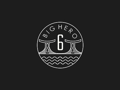 Big Hero 6 Branding vector illustration big hero 6 minimal disney branding