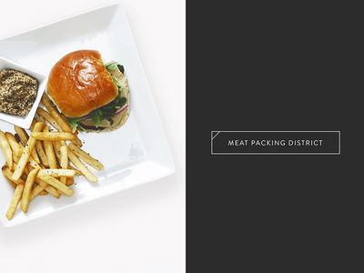 Burger Restaurant Collateral new york city restaurant branding photography layout typography collateral design