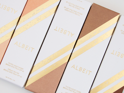 Albeit Complexion Packaging product photography gold foil packaging logo design beauty branding art deco beauty packaging packaging design anthropologie