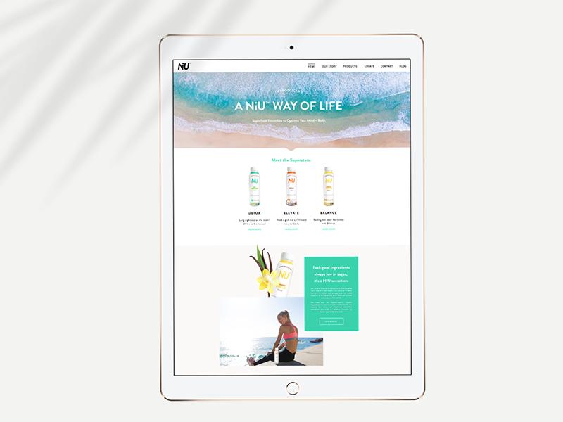 NiU Superfoods Website web design web navigation ux ui california website branding website dev website design
