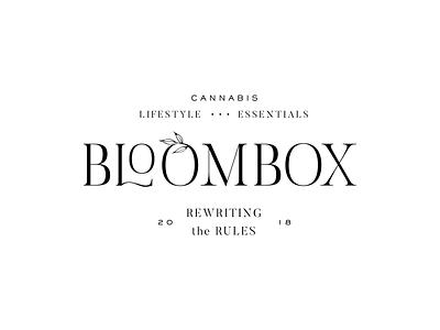 BloomBox Logo Concept II serif logo typography logo type logo cannabis wellness california branding logo lockup logo process logo concept logo