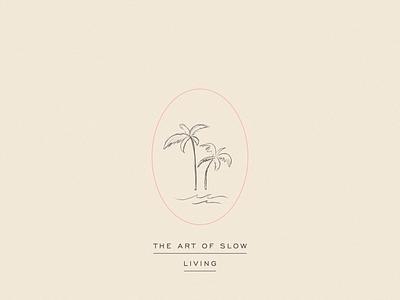 Slow Living Palm Tree Illustration artist mindfulness tropical palmtree artwork illustration art illustration design illustration