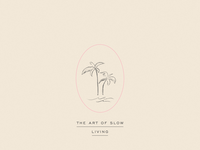 Slow Living Palm Tree Illustration