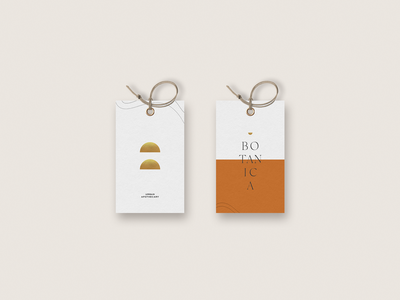 Botanica Tag Design tag design stationary mockup stationary design logo design minimal logo branding typography design