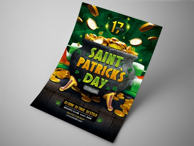 Saint Patrick`s Day party flyer