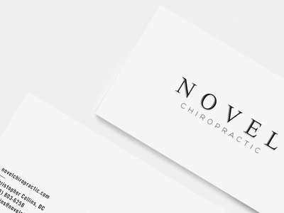 Novel chiropractic business cards by kendall e lane dribbble novel chiropractic business cards reheart Images