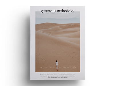 Generous Orthodoxy generous cover print paper orthodox layout publication