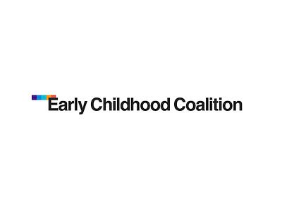 Early Childhood Coalition childhood children type typography logo branding