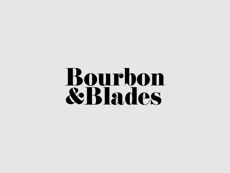 Bourbon and blades dribbble 01