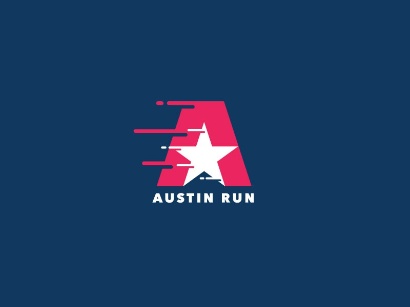 Austin Run texas racing logo racing race fast running logo running run austin austin run thirtylogos