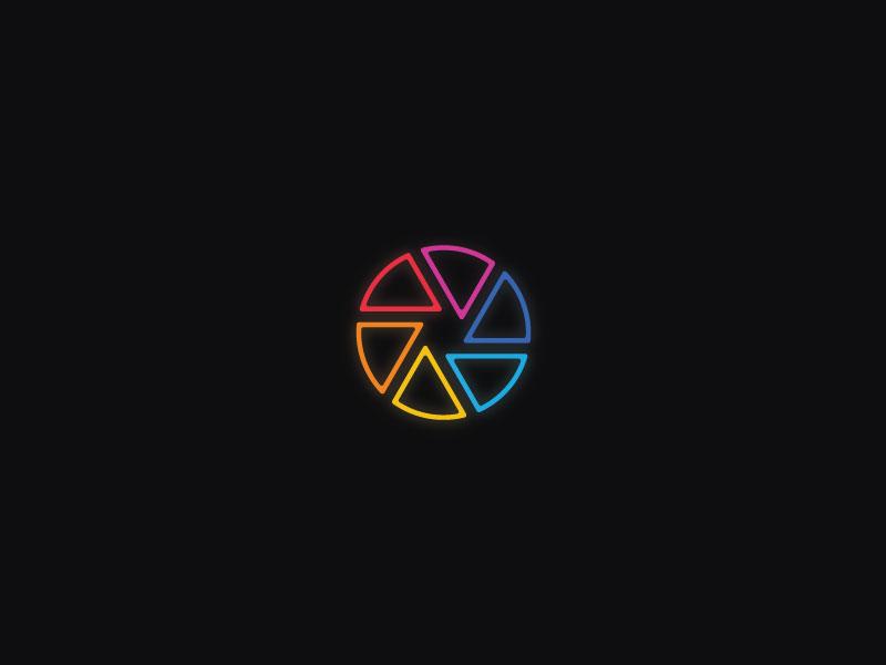 Paint app pantone camera aperture rainbow color wheel color thirtylogos paint