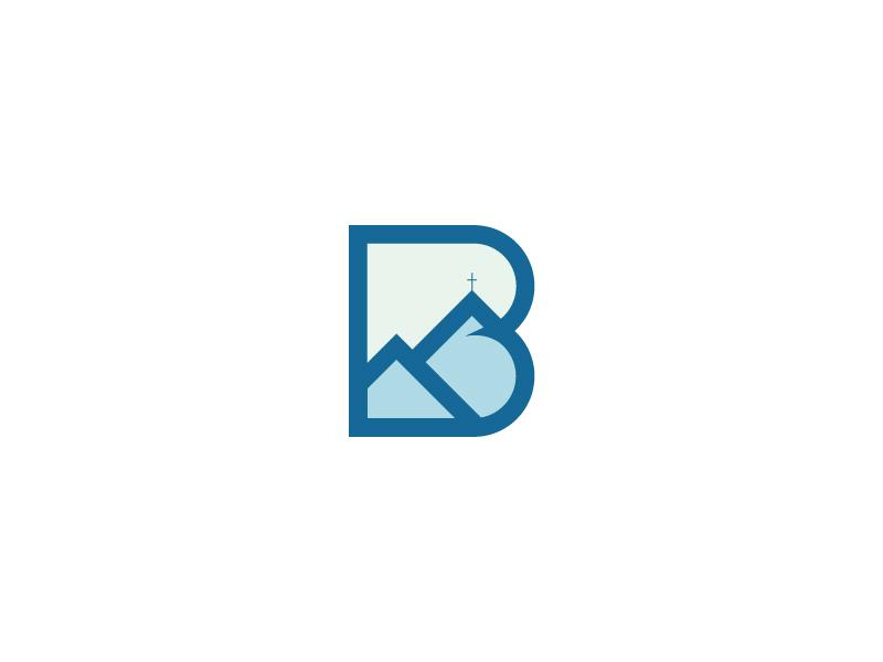 First Borden Church Logo ministries b valley cross mountain branding logo church