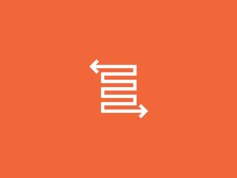 Turing Point point arrow arrows orange branding logo