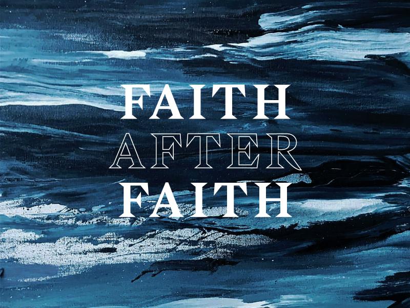Faith After Faith water paint type logo spiritual after faith