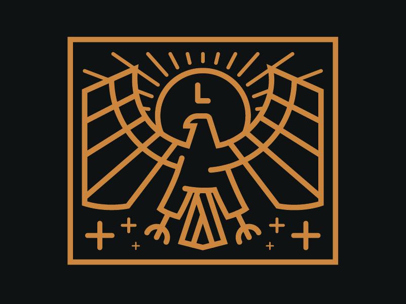 Lineage Logo line art symbol lineage logo stream streamer falcon