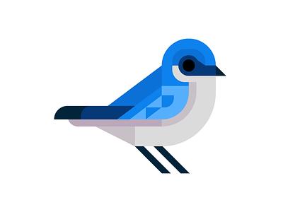 Tree Swallow vector swallow tree birds song ohio logo illustration grid geometric bird
