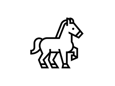 Horse mustang icon logo horse mark identity animal symbol trademark