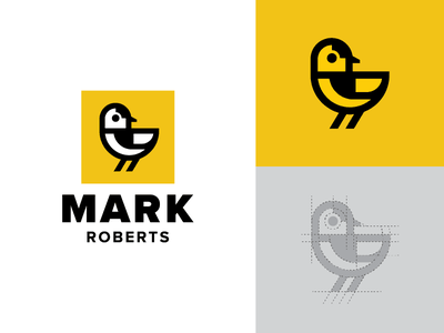 Goldfinch Logo gold fly ohio identity symbol goldfinch branding mark logo bird