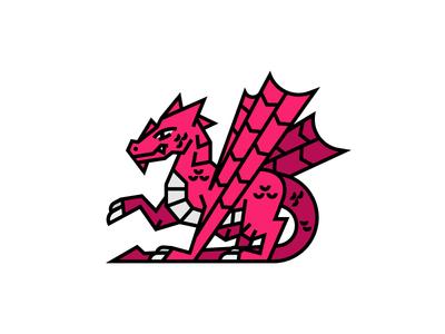 The Red Dragon knights fantasy gold treasure story medieval dragon