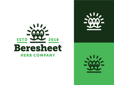 Beresheet Identity #2 drink coffee nature concept herb tea eden apple logo design