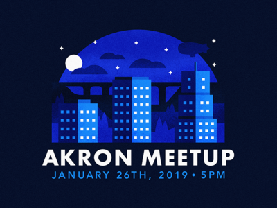 Akron Dribbble Meetup city connect mentor students rubber event social winter night designer illustration network ohio akron dribbble meetup