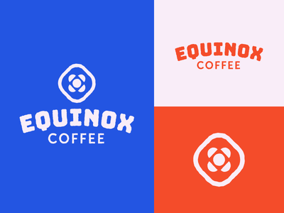 Equinox Coffee space summer fall spring winter drink seasons solstice sun logo brand coffee