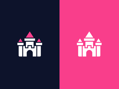 Another Castle princess knight wizards fantasy medieval icon identity symbol ohio logo design nintendo nes snes video game mario logo castle