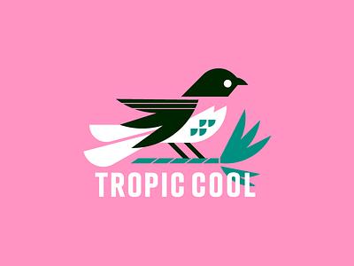 Tropic Cool Brand shop ocean typography identity nature grid animal geometric bird logo palm trees ohio symbol branding florida tropical print brand bird logo illustration