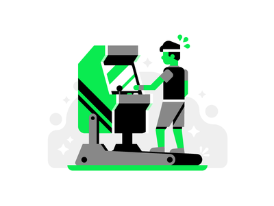 Exercise Your Skills hiwow person branding grid typography vector hard work video game geometric identity brand print ohio exercise treadmill arcade game app logo icon illustration