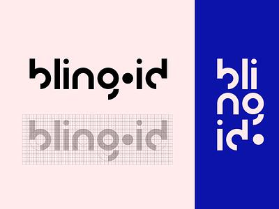 Bling iD Logo Concept grid visual identity typogaphy type sans serif sanserif minimalist minimal wordmark logotype logo lettering graphic geometric design studio design concept branding brand bling id