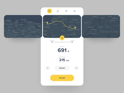 ReLocate: animations / interactions - making moving less painful flow interactive microinteraction interaction animation success transition gig help transport movers home packing renting moving tracking map mobile