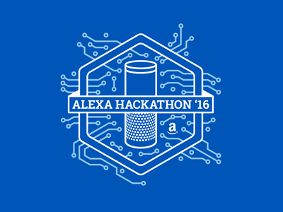 Alexa Hackathon - Event Branding for Amazon coding branding event visual identity gadgets pin pins stickers sticker tshirt amazon hackathon throwback voice echo event branding dtp print throwback thursday identity