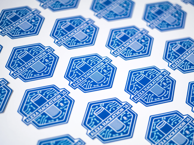 Alexa Hackathon - Event Branding for Amazon coding branding event visual identity gadgets pin pins stickers sticker tshirt amazon hackathon throwback voice echo event branding dtp print throwback thursday identity