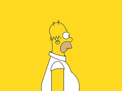 Homer J. Simpson - a character study 🍩 wip tribute flat simple fanart vector illustraion process keylines guidelines grid cartoon weekly challenge dribbbleweeklywarmup animation tv show tv series simpsons simpson