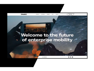 FAMOC - Product Platform | Cybersecurity for mobile devices webdesign interaction motion desktop intro animation product management adobe xd cybersecurity website page platform corporate technology tech landing mobile devices security