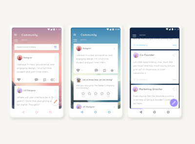 Mobile App Feed Explorations
