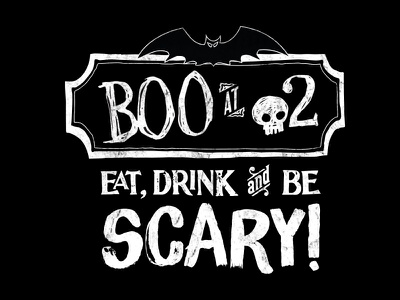 Boo at o2 - Agency Halloween Party logo halloween scary bat advertising agency party