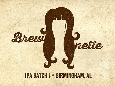 Brewnette beer logo home brewing ipa