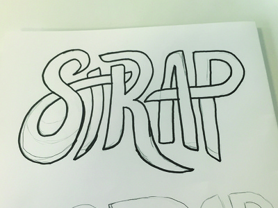 Strap intersecting letters hand type hand lettering strap