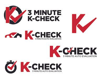 Kcheck tire automotive auto k variations diagnostic check mark logo