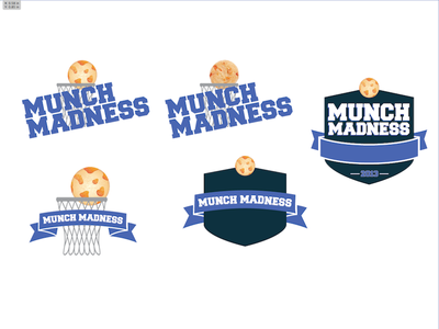 Munch Madness logo badge cookie basketball march madness