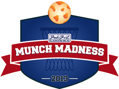 Munch Madness Logo logo badge cookie march madness basketball