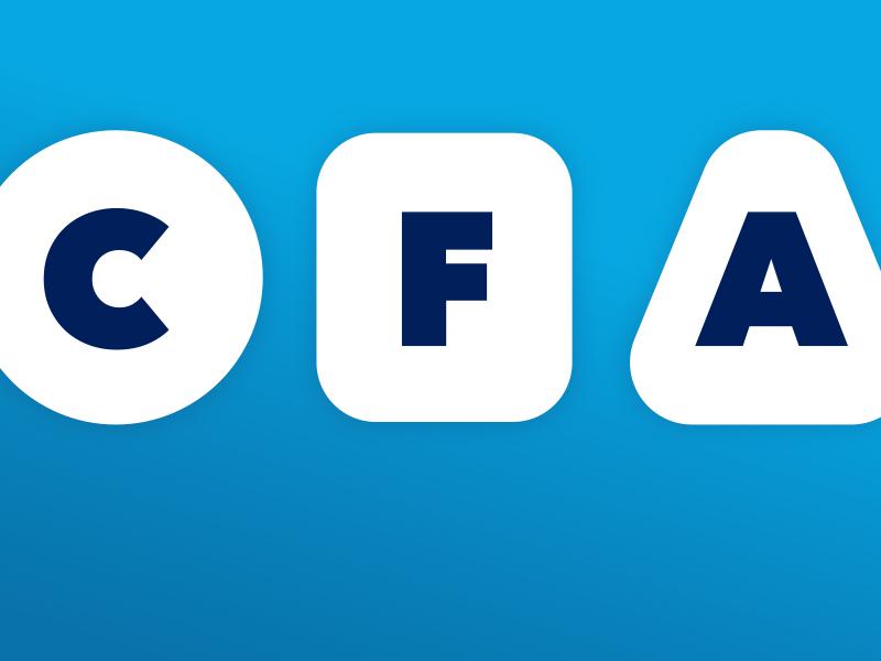 CFA logo mark design process icon identity branding logo