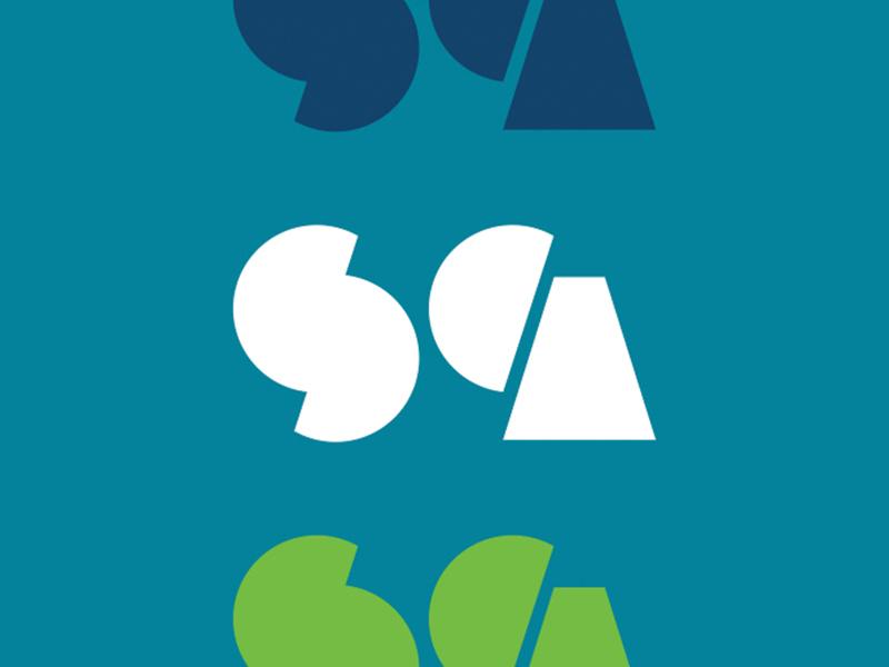 SCA art school cultural fine arts type brand icon branding identity logo