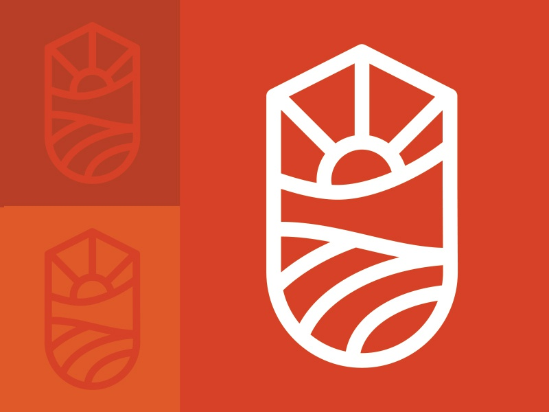 Trace tourism organic outdoors crest badge brand illustration icon branding identity logo