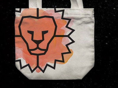Lion Tote totebag tote lion logo lion drawing brand illustration icon branding identity logo