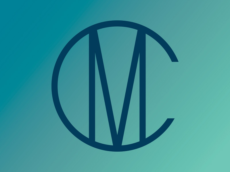 Meridian Club monogram mc monogram coastal coast ocean brand illustration icon branding identity logo