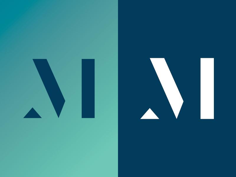 Monogram brand illustration icon branding identity logo