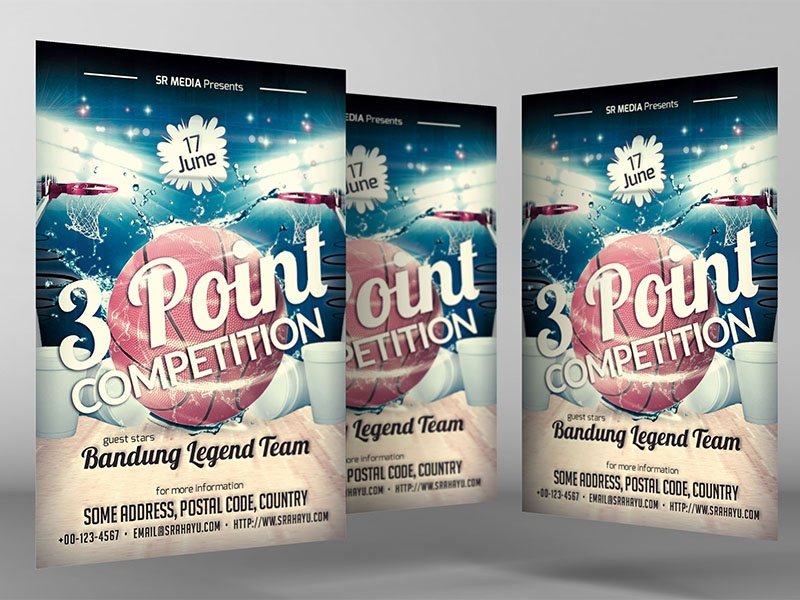 3 Point Competition Flyer Template By Mrs Srahayu Dribbble