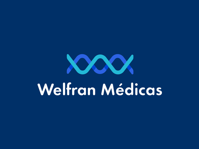 Welfran Médicas Logo Design medical logo branding visual identity logo mark symbol logotype logo design identity logo